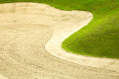 Golf grass and sand. In Golf Course Royalty Free Stock Photography