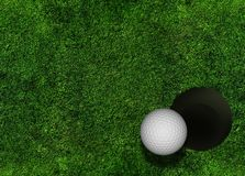 Golf Grassy Background Royalty Free Stock Photos