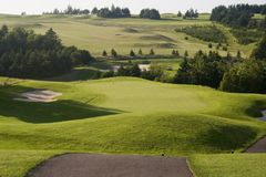 Golf Green. In Prince Edward Island Canada Royalty Free Stock Photography
