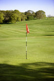 Golf green. And flag in beverly east yorkshire royalty free stock images