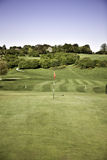 Golf green. And flag in beverly east yorkshire royalty free stock photography