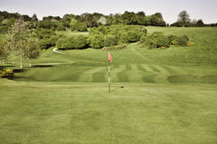 Golf green. And flag in beverly east yorkshire stock photos
