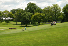 Golf green in the campus of Princeton university Royalty Free Stock Photo
