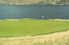 Golf Green Course Lake Hole  Royalty Free Stock Photos