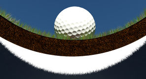 Golf green cup flag Royalty Free Stock Images