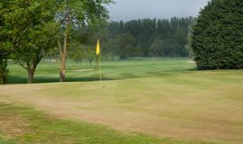 Golf green and fairway Stock Photo