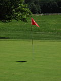 Golf Green and Flag Royalty Free Stock Photos
