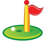 Golf Green Flag Golfing Royalty Free Stock Photo