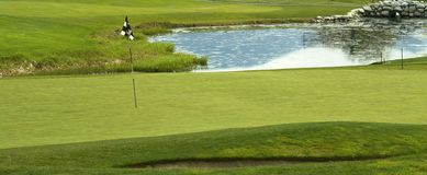 Golf Green Golfing Course  Royalty Free Stock Images