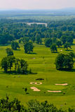 Golf green grass in Hluboka nad Vltavou, Czech republic Stock Photo