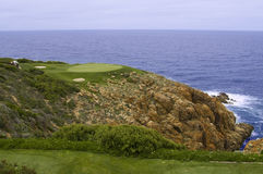 Golf green and sea Stock Images
