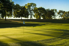 Golf Green at Sunrise Royalty Free Stock Photos