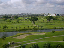 Golf Greens in Miami. View of Miami golf course near the airport Stock Photography