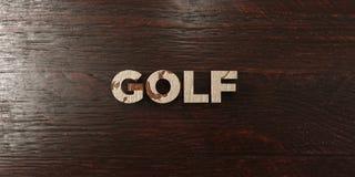Golf - grungy wooden headline on Maple  - 3D rendered royalty free stock image Royalty Free Stock Image