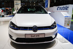 Golf GTE electric, Motor Show Geneva 2015. Royalty Free Stock Photography