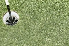 golf hålet Fotografering för Bildbyråer