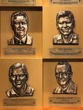 Golf Hall of Famers. Plaques dedicated to golf greats who are enshrined into the World Golf Hall of Fame in St. Augustine, Florida Royalty Free Stock Photography