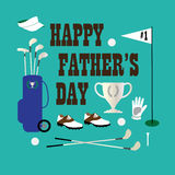 Golf happy fathers day. Graphic Stock Photography