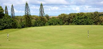 Golf in Hawaii Royalty Free Stock Photography