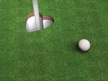 Golf Heart Royalty Free Stock Photography
