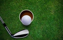 Golf-Hintergrund Stockfotos