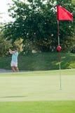 Golf hit Stock Photos
