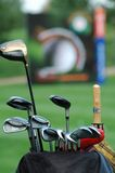 Golf of the hockey stick. And accesories Stock Photography