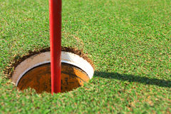 Golf hold and flag Royalty Free Stock Images
