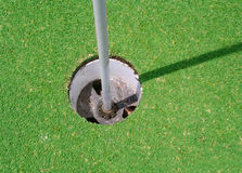 Golf Hole. A golf hole Royalty Free Stock Image