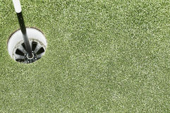Golf hole. On a golf course Stock Image