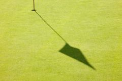 Golf hole. In early morning Stock Image