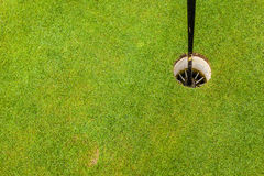 Golf hole from above Royalty Free Stock Image