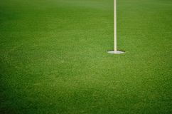 The golf hole on background royalty free stock images