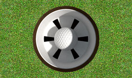 Golf Hole With Ball Inside Royalty Free Stock Images