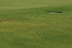 Golf hole closeup Stock Photography