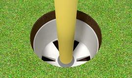 Golf Hole And Flag Stock Photos