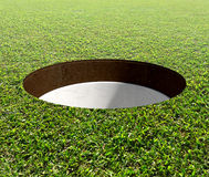 Golf Hole And Green Royalty Free Stock Images