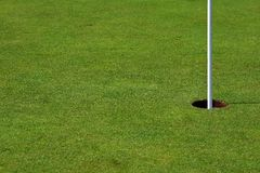 Golf Hole (right side). Golf hold on a perfect green (right side Royalty Free Stock Image