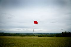 Golf hole wide Royalty Free Stock Photography
