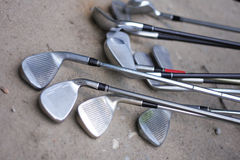 Golf holes. As very nice sport background Stock Images