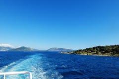 Golf i det Aegean havet i Grekland Royaltyfri Bild