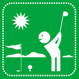 Golf icon. Vector silhouette golf icon in geometric style Royalty Free Stock Photography