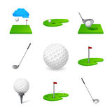 Golf icon. Logo golf theme Royalty Free Stock Photography