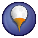 Golf Icon. Illustration for golf ball Royalty Free Stock Photo