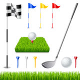Golf icon set Stock Image
