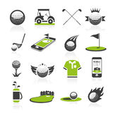Golf icon set 2 Royalty Free Stock Photos