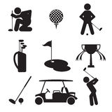 Golf Icon Set Royalty Free Stock Image