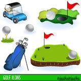 Golf Icons Stock Photography