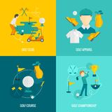 Golf icons flat Royalty Free Stock Images