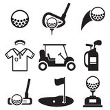 Golf Icons Royalty Free Stock Photos